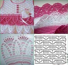 Crochet dress for baby - pattern