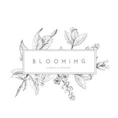 looooove the botanical aspect | Premade Logo Feminine logo Logo Design Brand Design minimalist, minimalism, minimal, simplistic, simple, modern, contemporary, classic, classy, chic, girly, fun, clean aesthetic, bright, white, pursue pretty, style, neutral color palette, inspiration, inspirational, diy ideas, fresh
