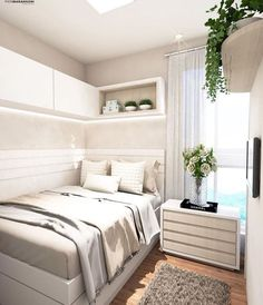 33 Admirable Small Bedroom Decor Ideas You Never Seen Admirable Small Bedroom Decor. - 33 Admirable Small Bedroom Decor Ideas You Never Seen Before, Room Ideas Bedroom, Small Room Bedroom, Home Bedroom, Modern Bedroom, Small Bedroom Interior, Furniture For Small Bedrooms, Decorating Small Bedrooms, Small Bedroom Ideas For Teens, Bedroom Ideas For Small Rooms For Teens