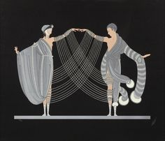 Love and Passion: The Marriage Dance.1983.  Screenprint in colors.  73.3 x 86 cm.  Art by Erte. (1892-1990).