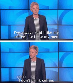 Ellen Really Knows How To Espresso Herself <--- haha nice pun
