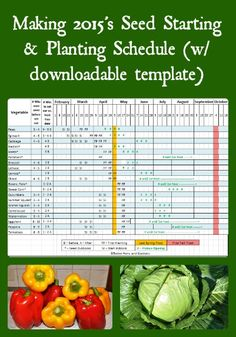 Time to start thinking garden; so I've created our annual 2015 seed starting & planting schedule that can be downloaded and modified for your garden.