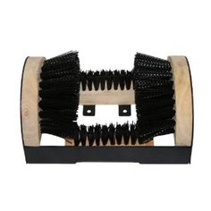 Floor Mount Boot Scrubber Brush w/scraper by Grip. $20.99. Includes four screws and brackets for premenant installation. Ideal for use in cleaning boots or shoes around the home, barn, garage, workshop, or RV. Rugged, heavy guage, welded metal frame can take abuse. Built-in shoe sole and edge scraper to clean off those tough to get at places of mud and dirt on soles. Strong bristle brushes clean mud, ice, and snow off boots and shoes. Grip Boot Scrubbing Brush