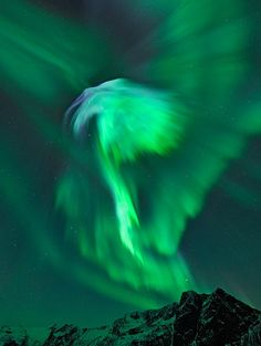 """Eagle Lights"" -- aurora borealis over Norway."