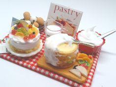 hand:made:ミニチュア:ドールハウス:ケーキ作りセット再販::