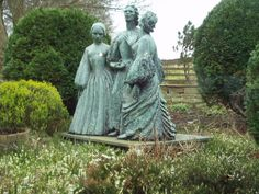 The Bronte sisters in the parsonage garden