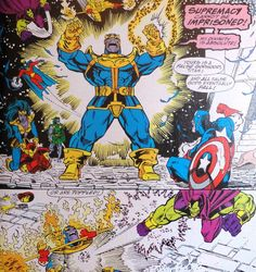 Thanos & the Infinity Gauntlet Thanos Marvel, Marvel Comics, The Infinity Gauntlet, Comic Boards, Nerd Geek, Art Studies, Sci Fi Art, Guardians Of The Galaxy, Marvel Characters