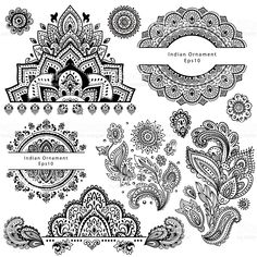Set of ornamental Indian symbols royalty-free set of ornamental indian symbols stock vector art & more images of mandala