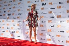 Kirsten Wiig arrives on the red carpet for the film 'Welcome To Me' during the 2014 Toronto International Film Festival in Toronto on Friday, Sept. 5, 2014.   Photo by Chris Young of The Canadian Press.