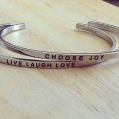 Choose Joy and Live Laugh Love Mantrabands on sale today! http   www 78913953fc972