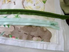 sewing a pillow with piping and a zipper