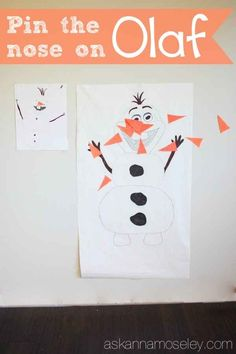 """Pin the the nose on Olaf 