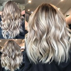 Blonde balayage, long hair, cool girl hair ✌️ Lived in hair colour Blonde bronde brunette golden tones Balayage face framing blonde Textured curls hair inspiration