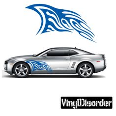 Tribal Flames Wall Decal - Vinyl Decal - Car Decal - DC 064