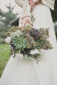 Winter Wedding Bouquet Evergreen and Succulents Winter Wedding Flowers, Floral Wedding, Fall Wedding, Diy Wedding, Dream Wedding, Winter Weddings, Rustic Wedding, Wedding Ideas, Wedding Images