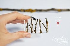 Resin Necklace Nature Lovers Tree Branches Epoxy by CreatrixEpoxy