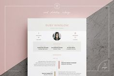 Resume/CV | Ruby by Keke Resume Boutique on @creativemarket