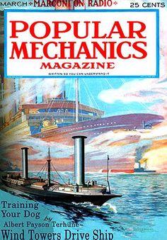 Popular Mechanics magazine - - Yahoo Image Search Results Magazine Images, Magazine Covers, Wind Direction, Popular Mechanics, Boat Design, Wind Power, Alternative Energy, Training Your Dog, Renewable Energy