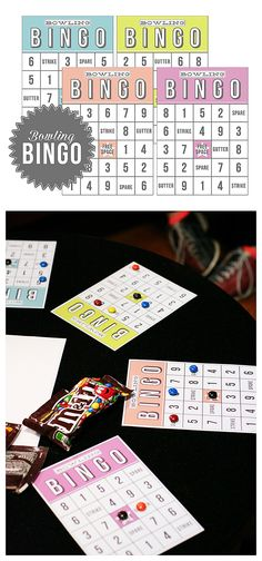 Bowling Bingo   Free Printable - keeps the kids busy while waiting for their turn! Too fun!