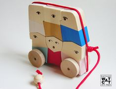Rush Hour wooden puzzle toy by WatermelonCatCompany on Etsy