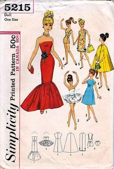 simplicity-5215-barbie-doll-sewing-pattern by sewingdollclothes, via Flickr