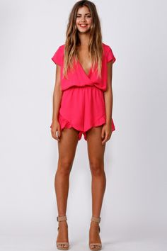 Lucky One Playsuit Pink