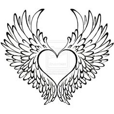 Heart with Wings Tattoo by Metacharis ❤ liked on Polyvore featuring accessories