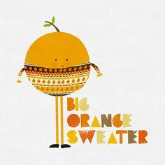 Big Orange sweater by blanca gomez