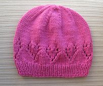 Ravelry: Hat with Lacy Hearts for a lady pattern by Elena Chen