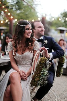 A Stunning Bride in A Reem Acra Wedding Dress, one of my favourite ever gowns!