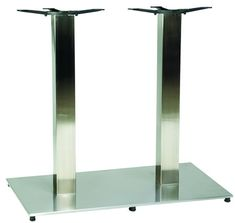Tracon Height Adjustable Gas Lift Table Base Brushed Steel Base - Adjustable table bases for restaurants