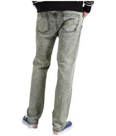 DC Straight Fit Jean in Black Acid