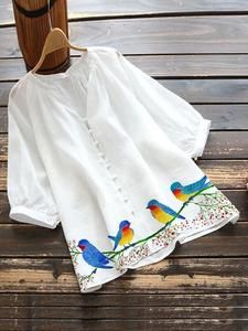 Casual Tops For Women, Dressy Tops, Cute Floral Dresses, Sleeves Designs For Dresses, Frocks For Girls, Shirt Bluse, White Embroidery, Fashion Sewing, White Women