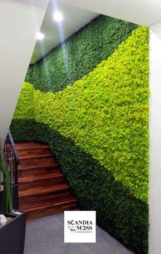 Scandia Moss Staircase Installation - Functional & Serene.  Maintenance Free!  www.scandiamoss.com