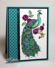 Stampin' Up! Perfect Peacock card - LW Designs: Bohemian Peacock