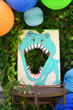 Dinosaur…in a box Feed the T-Rex. Dinosaur…/ in a box. Dinosaur…in a box Feed the T-Rex. Dinosaur…/ in a box. Dinosaur Party Decorations, Dinosaur Party Favors, Dinosaur Crafts, Dinosaur Birthday Party, Birthday Party Themes, Boy Birthday, Dinosaur Face Painting, Festa Jurassic Park, Dinosaur Cake Toppers
