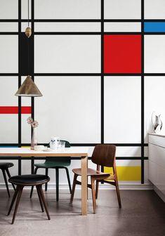 Color Block Wall- mondrian