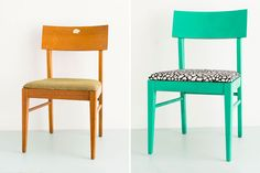 How to Reupholster a Thrift Store Chair in 4 Easy Steps via Brit + Co.