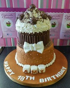 See 2 photos from 6 visitors to Cupcake Couture. Cupcake Couture, Adult Birthday Cakes, Giant Cupcakes, Cake Decorations, Fancy Cakes, Bakery, Desserts, Food, Birthday Cakes For Adults