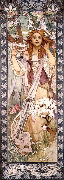 Maude Adams as Joan of Arc by Alphonse Maria Mucha