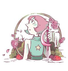 Steven Universe fan art featuring your favorite characters. Made by independent artists and printed on awesome stuff. Steven Universe Stickers, Pearl Steven Universe, Universe Art, Universe Images, Lapidot, Strawberry Fields, Cartoon Art, Cool Art, Nice Art