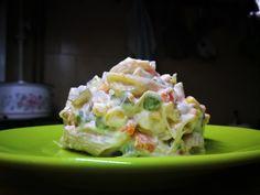 Majonézes színes tésztasaláta glutén-, tojás- és tejmentesen - AntalVali