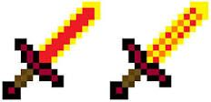 Minecraft blaze swords