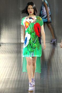 1ccbf68d4249a3 Goedkope 2015 fashion europese stijl jurken zomer causale hoge kwaliteit  digitale afdrukken print groene jurk