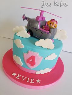 Paw patrol cake decorations for girl ideas toppers walmart pan pops skye tesco asda designs waitrose publix images singapore cakes boys morrisons kit topper figures template and cupcakes at aucklan… Paw Patrol Sky Cake, Pastel Paw Patrol, Girls Paw Patrol Cake, Paw Patrol Torte, Paw Patrol Birthday Girl, Paw Patrol Cupcakes, Paw Patrol Skye, Bithday Cake, Birthday Cake Girls