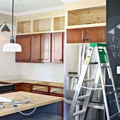 Create Storage Above Kitchen Cabinets