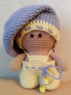 Find out how to crochet a simple doll amigurumi. The Baby Doll Amigurumi Crochet Pattern describes only the base of the doll. The clothes is up to you!