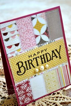 Using Carta Bella Beautiful Moments patterned papers and Papertrey Ink's Think Big Favourites.