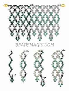 Free pattern for beaded wedding necklace Dia | Beads Magic