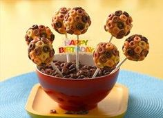 Cheerios Banana Cake Pops - great for birthday parties!